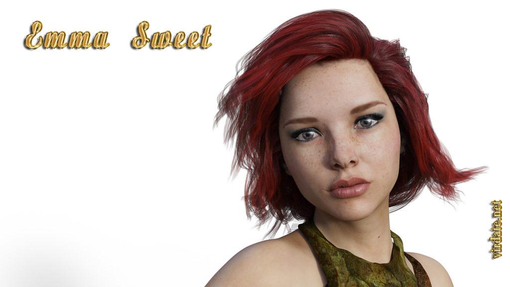 Крупный план героини цикла Кибергеника - Эммы Свит