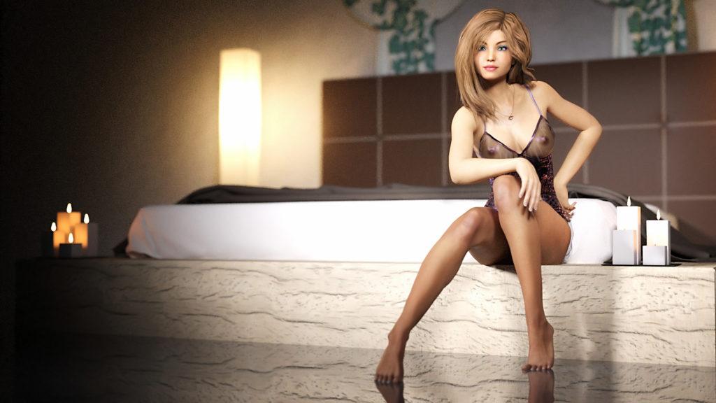 Сексуальная девушка Нади позирует на фотосессии в откровенном нижнем белье