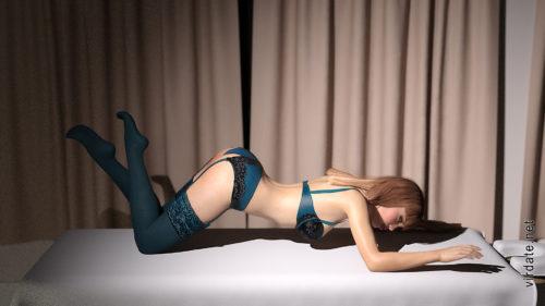 Сексуальная девушка ангелина в нижнем белье лежит на кровати выставив попку
