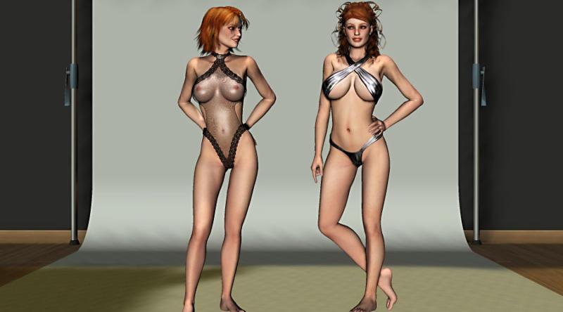 Картинка с сексапильной девушкой из порно игры Virtual Date Girls - Lisette